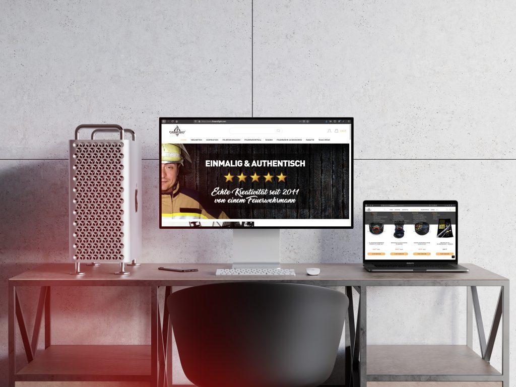 FireAndFight Onlineshop Startseite und Onlineshop